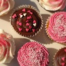 Cupcakes - pinks and browns