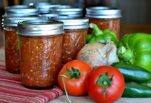 Homemade Salsa with Vegetables