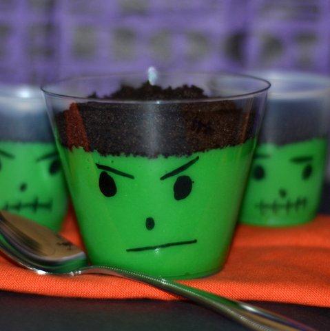 Frankenstein Pudding Cups 187 Stop Lookin Get Cookin