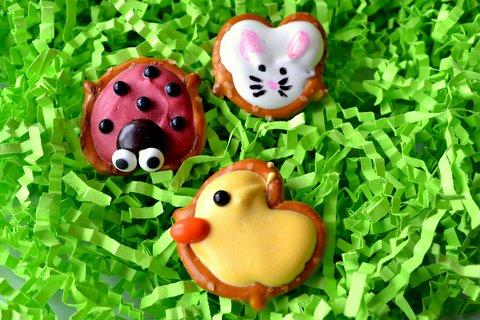3. Ladybug, Bunny and Duck Pretzels