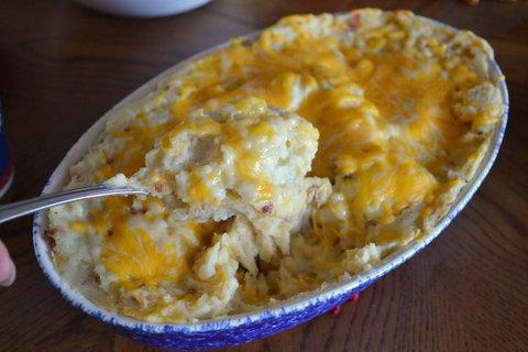 Potatoes in dish