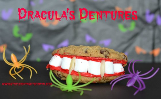 Dracula's Dentures, Stop Lookin Get Cookin, Halloween, Cookies
