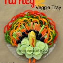 Vegetable Tray Turkey Shape