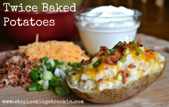 Twice Bake Potato, Stop Lookin Get Cookin, Traditional Meal, holiday