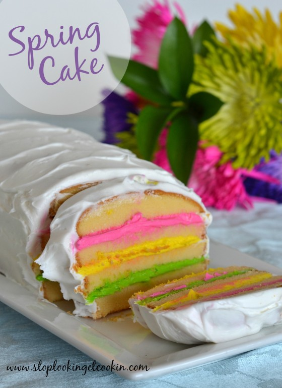 Colorful Spring Cake || Stop Lookin' Get Cookin