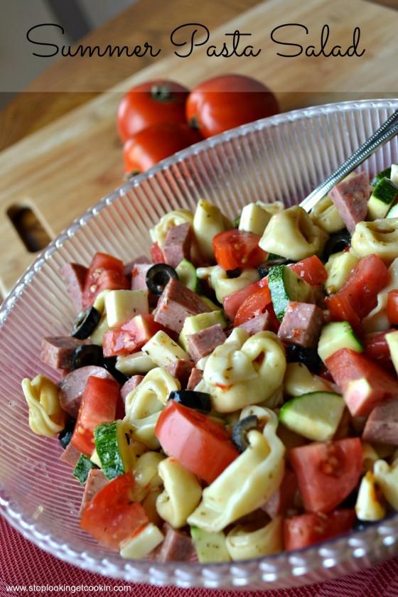 Summer Pasta Salad||www.stoplookingetcookin.com